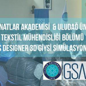 GSA- Uludağ Üniversitesi Marvelous Designer 3D Giysi Simülasyonu Semineri